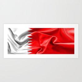 Qatar Flag Art Print