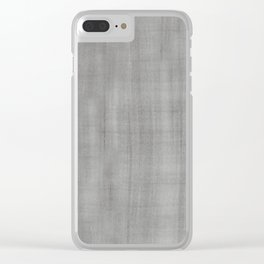 Pantone Pewter Dry Brush Strokes Texture Pattern Clear iPhone Case
