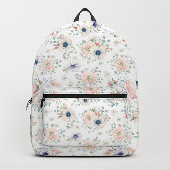 Pretty Pastel Flowers Backpack