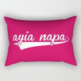 Ayia Napa EDM Quote Rectangular Pillow