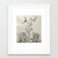 under the sea Framed Art Prints featuring Under The Sea Sketch by ANoelleJay