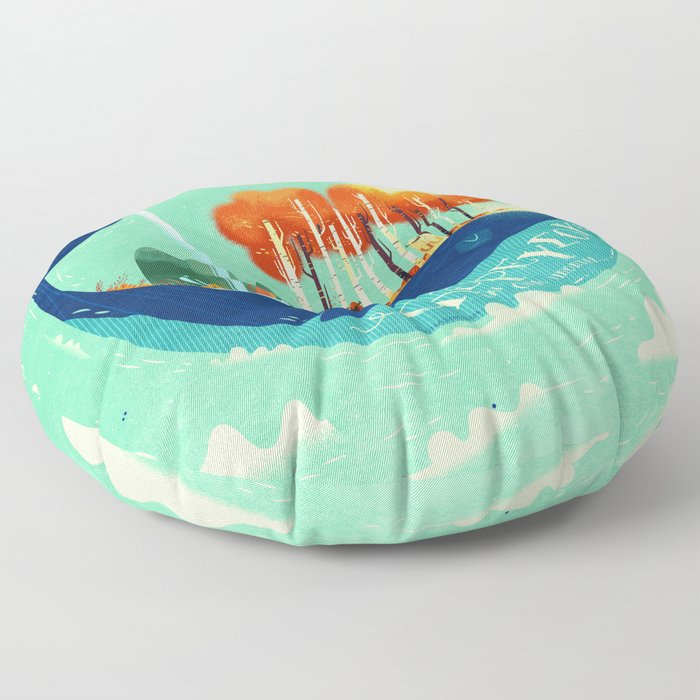 :::Tall Tree Whale::: Floor Pillow