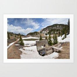 Ore Loading Chute above Sheridan Summit, No. 2 of 2 Art Print