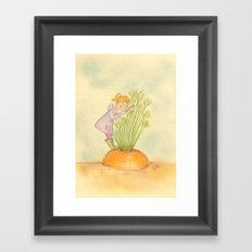The carrot inspector Framed Art Print