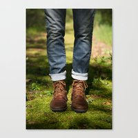 boyfriend Canvas Prints featuring Boyfriend by Erica Schroeder