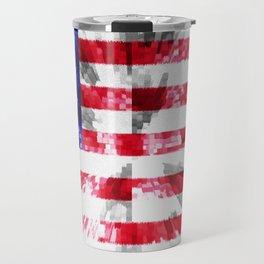 American Flag Extrude Travel Mug