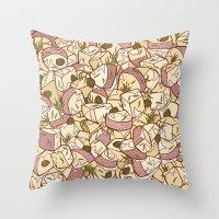 potato Throw Pillows featuring Potato Salad by Raewyn Haughton