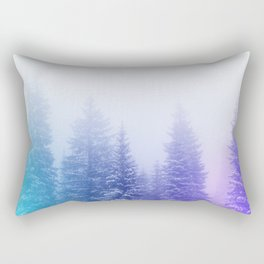 Blue and Purple Pines Rectangular Pillow