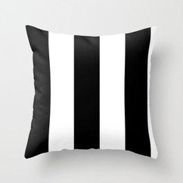 5th Avenue Stripe No. 2 in Black and White Onyx Throw Pillow