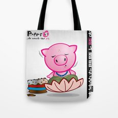Berto: The Mental-issue pig in trascendental meditation Tote Bag