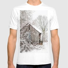 The Wooden Shed Mens Fitted Tee MEDIUM White