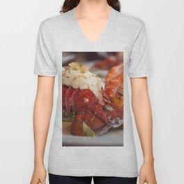Lobster dinner Unisex V-Neck