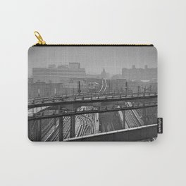 Tales of a Subway Train in Black and White Carry-All Pouch