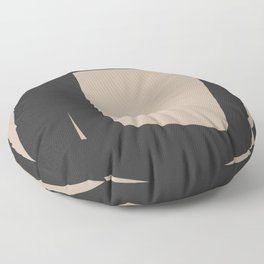 Neutral Abstract 4A Floor Pillow