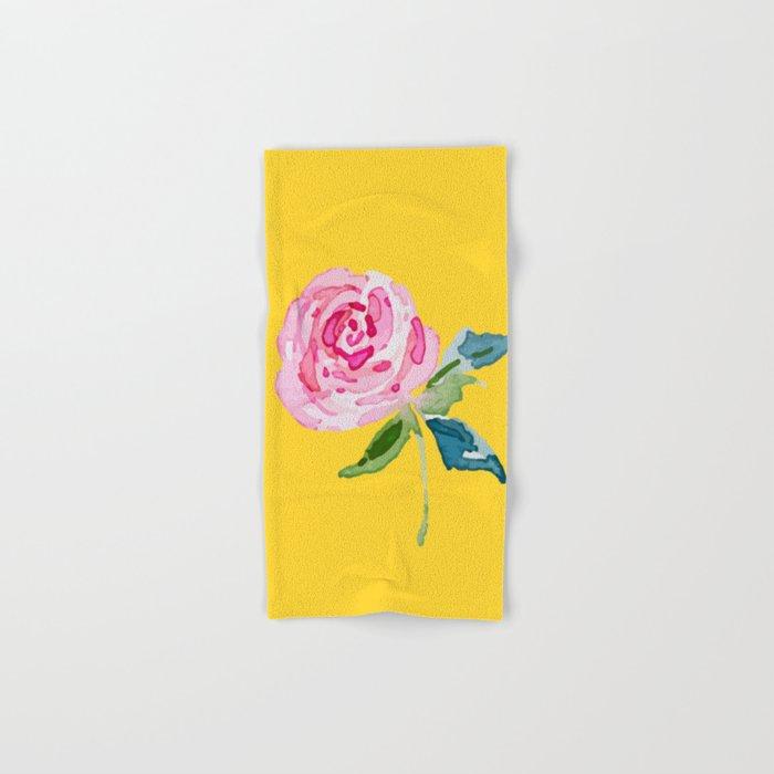 Watercolor Rose Hand & Bath Towel