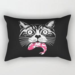 The hungry cat Rectangular Pillow