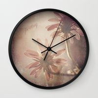 poetry Wall Clocks featuring Poetry by Laura George