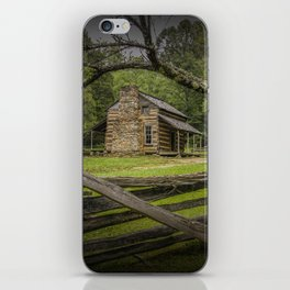 Oliver Log Cabin in Cade's Cove iPhone Skin