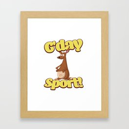 G'day Sport Framed Art Print