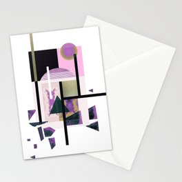 Geometric Metall Stationery Cards