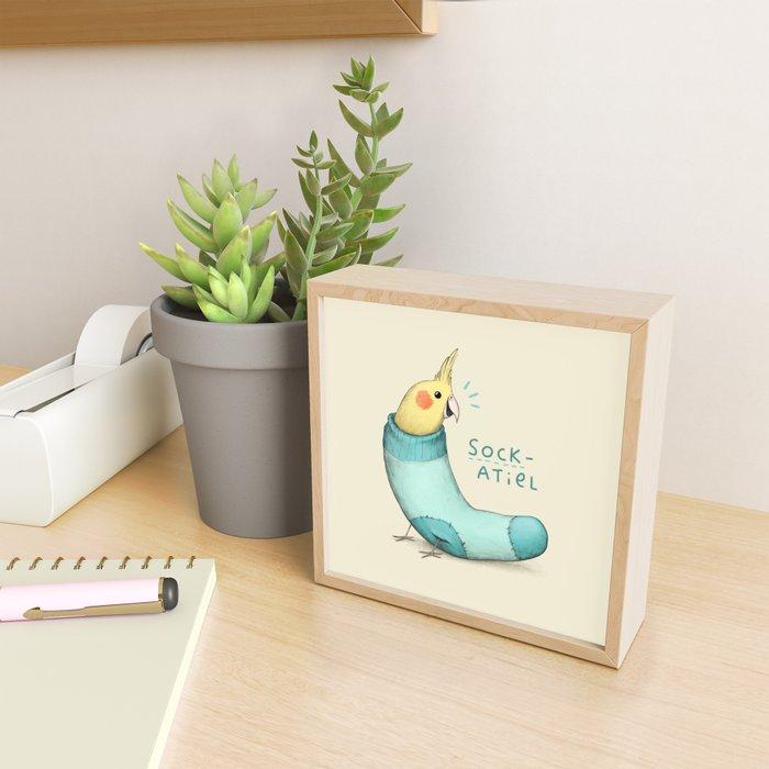 Sockatiel Framed Mini Art Print