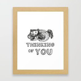 dogs think of you Framed Art Print