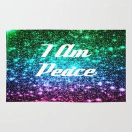 Peace Affirmation Galaxy Sparkle Stars Rug