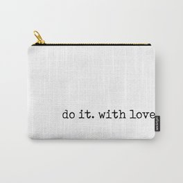 Do i. With Love. Typewriter Style Carry-All Pouch