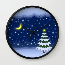 Christmas fairytale Wall Clock