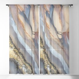 Agate astract Sheer Curtain