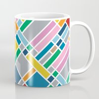 karu kara Mugs featuring Map Outline 45  by Project M