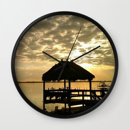 Tiki Sunrise Wall Clock
