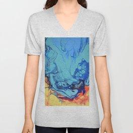 Celebration 2 Colorful Fluid Abstract Art Unisex V-Neck