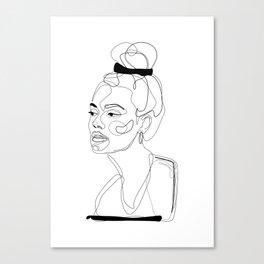 B&W Sketch Canvas Print