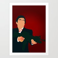 scarface Art Prints featuring Scarface by Tom Storrer