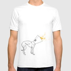 A Trophy White Mens Fitted Tee MEDIUM