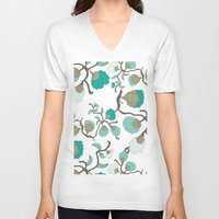 wallpaper V-neck T-shirts featuring Wallpaper floral by cactus studio