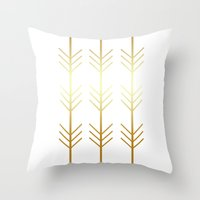 stay gold Throw Pillows featuring stay gold by Reckless Crush