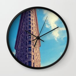 New York City Flatiron Architecture Wall Clock