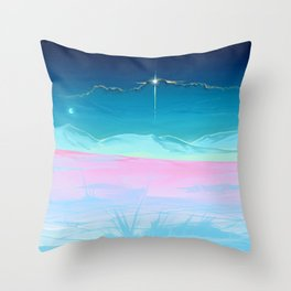 Not on earth anymore Throw Pillow