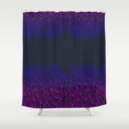 Autumn blue-pink leaf fall. Shower Curtain