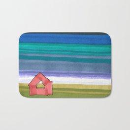American Farm Landscape Blue Stripes 82 Bath Mat