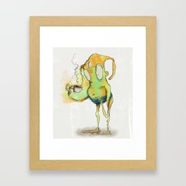 Humanity is fueled by delicious hot bean water Framed Art Print