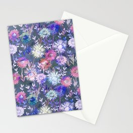 Gillian Floral Gray Stationery Cards