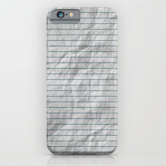 Crumpled Lined Paper iPhone & iPod Case