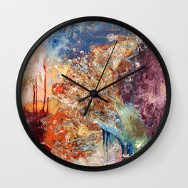 I Found My Soul in a Parking Lot by Nadia J Art Wall Clock