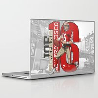 nfl Laptop & iPad Skins featuring NFL Legends: Joe montana 49ers by Akyanyme