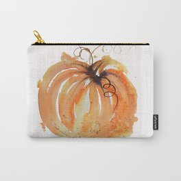 Abstract Watercolor Pumpkin Carry-All Pouch