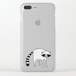 Raccoon swoon Clear iPhone Case
