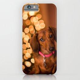 Dachshund Christmas iPhone Case